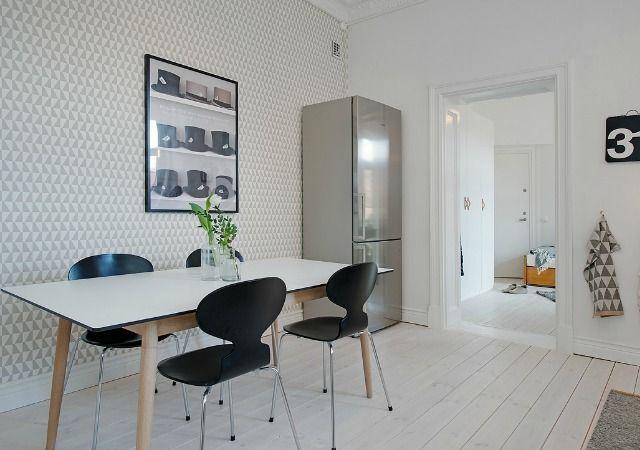 Cocinas con papel pintado cocina home interior y kitchen - Papel pintado en cocina ...