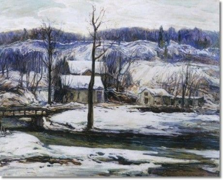 The Mill In Winter by Charles Reiffel