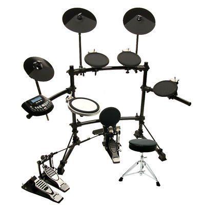 DKX-580 USB Digital Electronic Drum Set w/ Double Bass Pedal