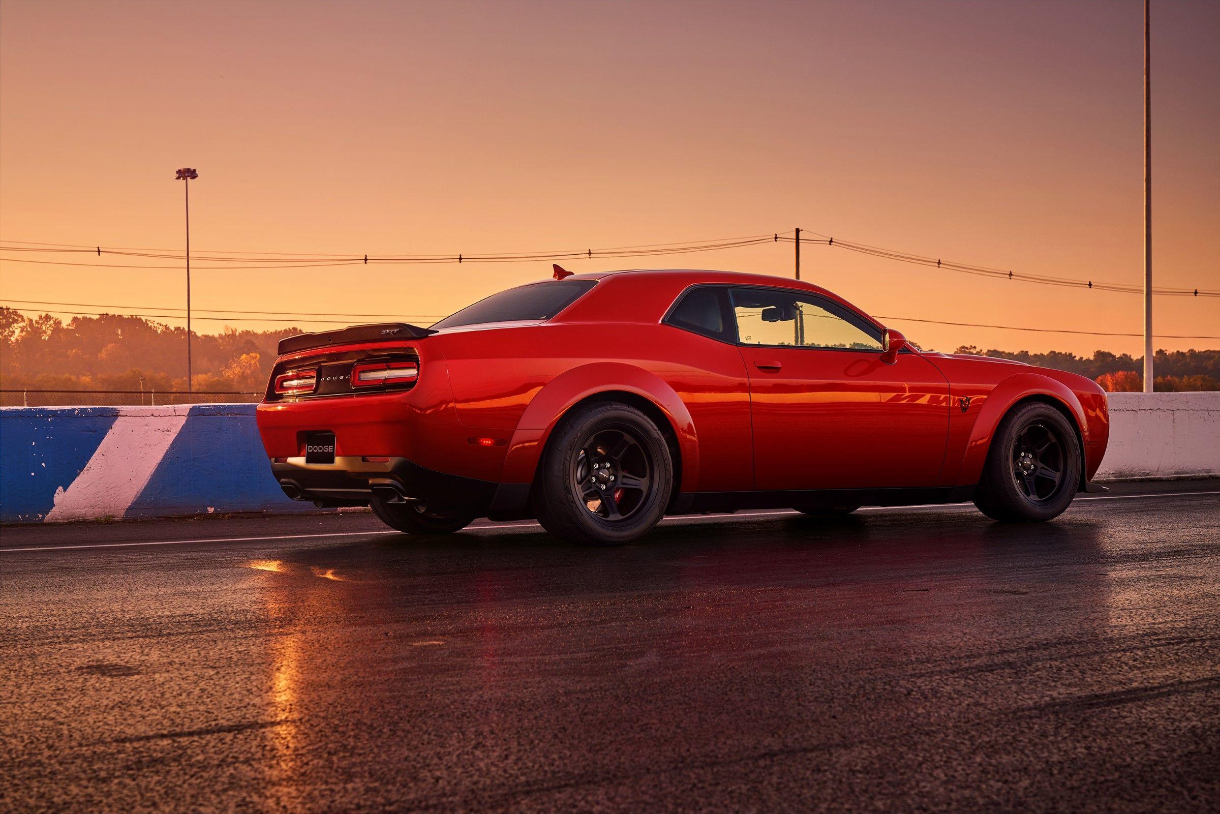 2018 Dodge Challenger Srt Demon 840 Hp 770 Torque 9 65 140 Mph Qtr 0 60 2 3 Secs 1 8g A Dodge Challenger Srt Dodge Challenger 2018 Dodge Challenger Srt