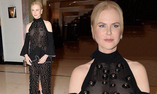 Nicole Kidman wears unusual sheer dress to Harper's Bazaar Awards