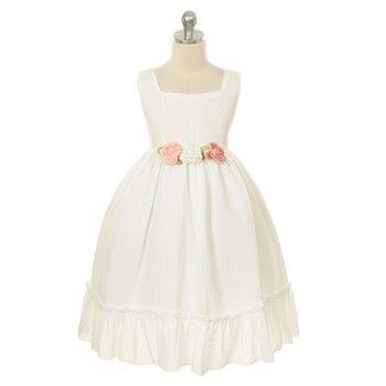 Kids Dream Ivory Cotton Day Special Occasion Girl Dress 2-12
