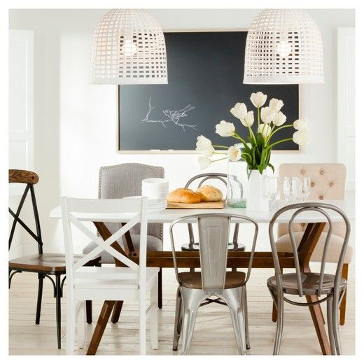 The Threshold Farm Table Dining Collection Meshes A Rustic Wooden Adorable Kitchen Tables And Chairs Design Ideas