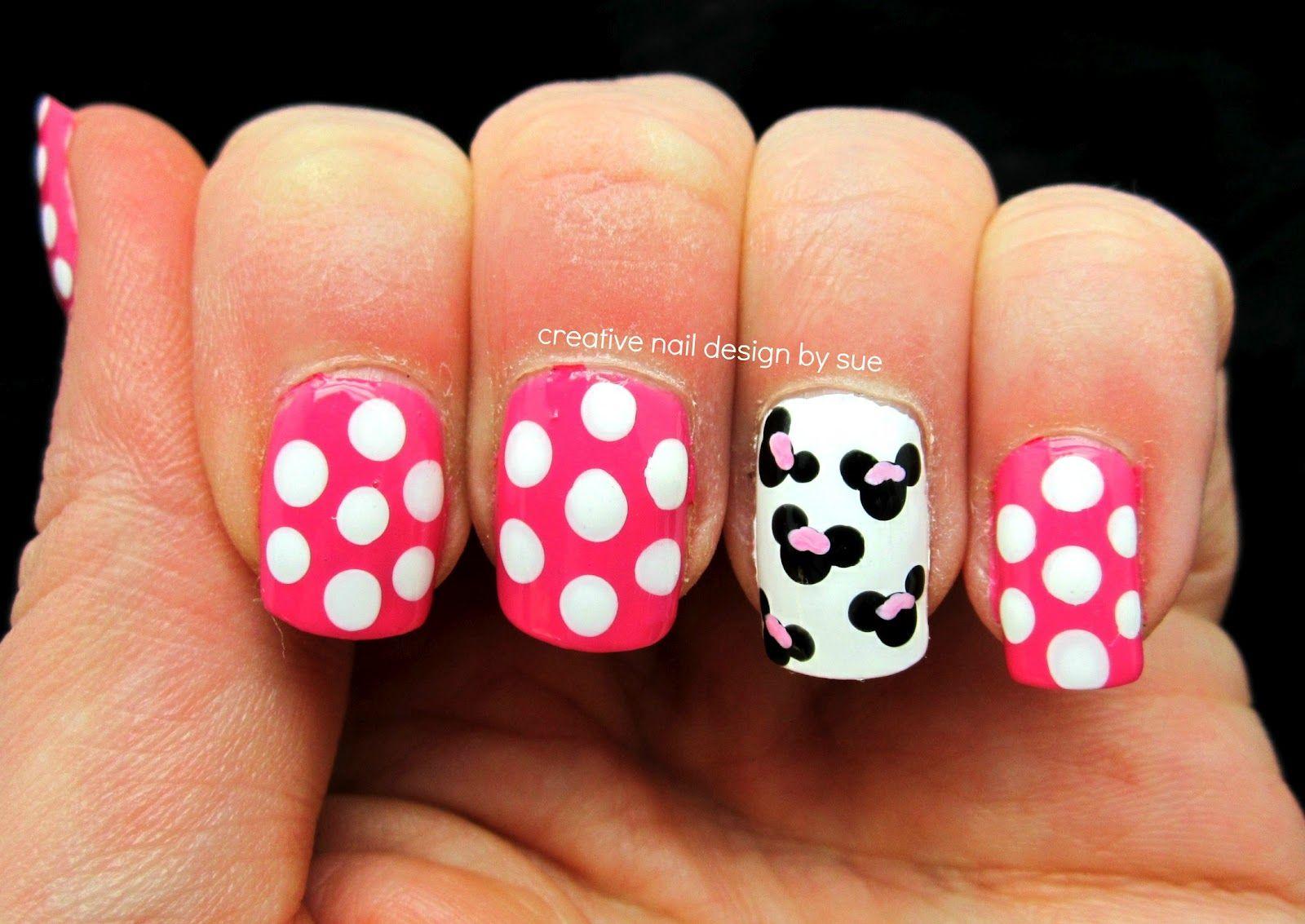 mimi+mouse+nail   Creative Nail Design by Sue: Matching nails & tops ...