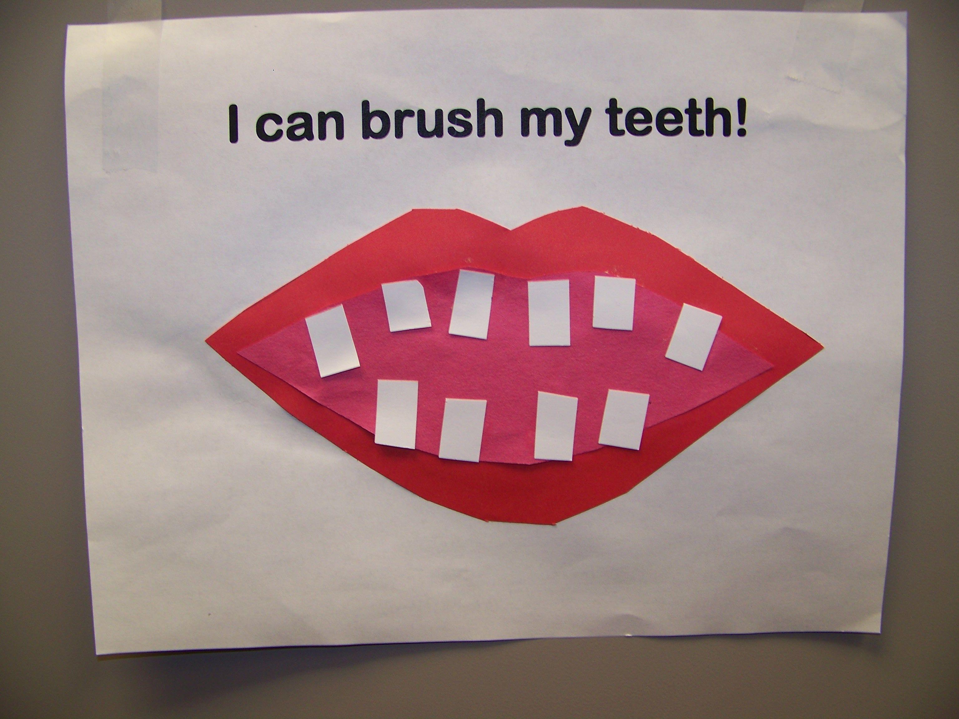 I Can Brush My Teeth Craft