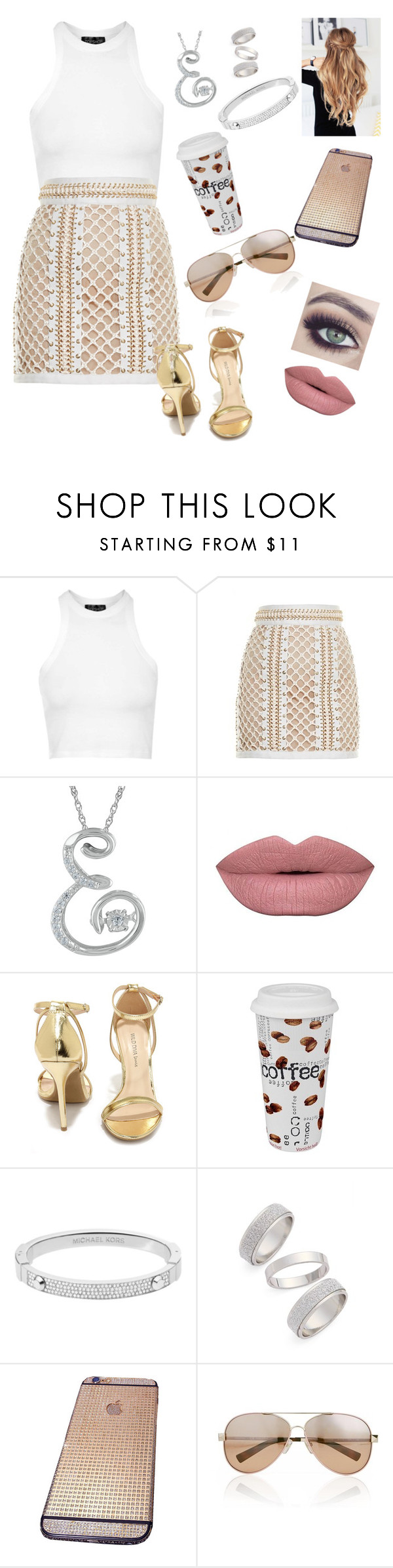 """""""Untitled #230"""" by hellosweeties2 ❤ liked on Polyvore featuring Topshop, Balmain, Tuttle, Wild Diva, Könitz, Michael Kors, Valentino, women's clothing, women and female"""