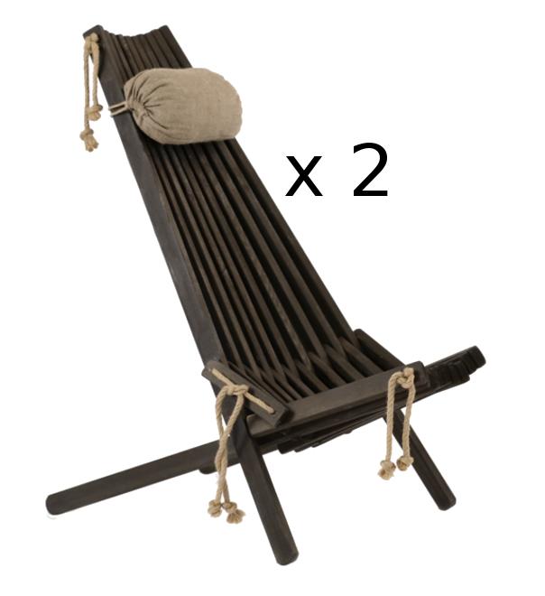 Mänty musta 2 tuolia