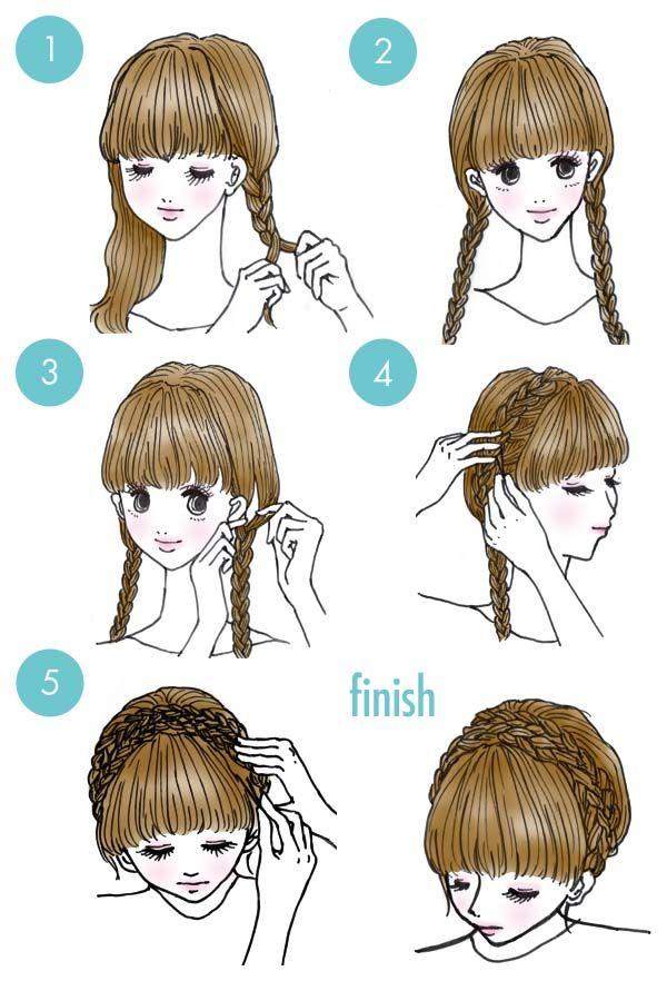 trenzas fáciles para mamás y niñas peinados pinterest trenzas