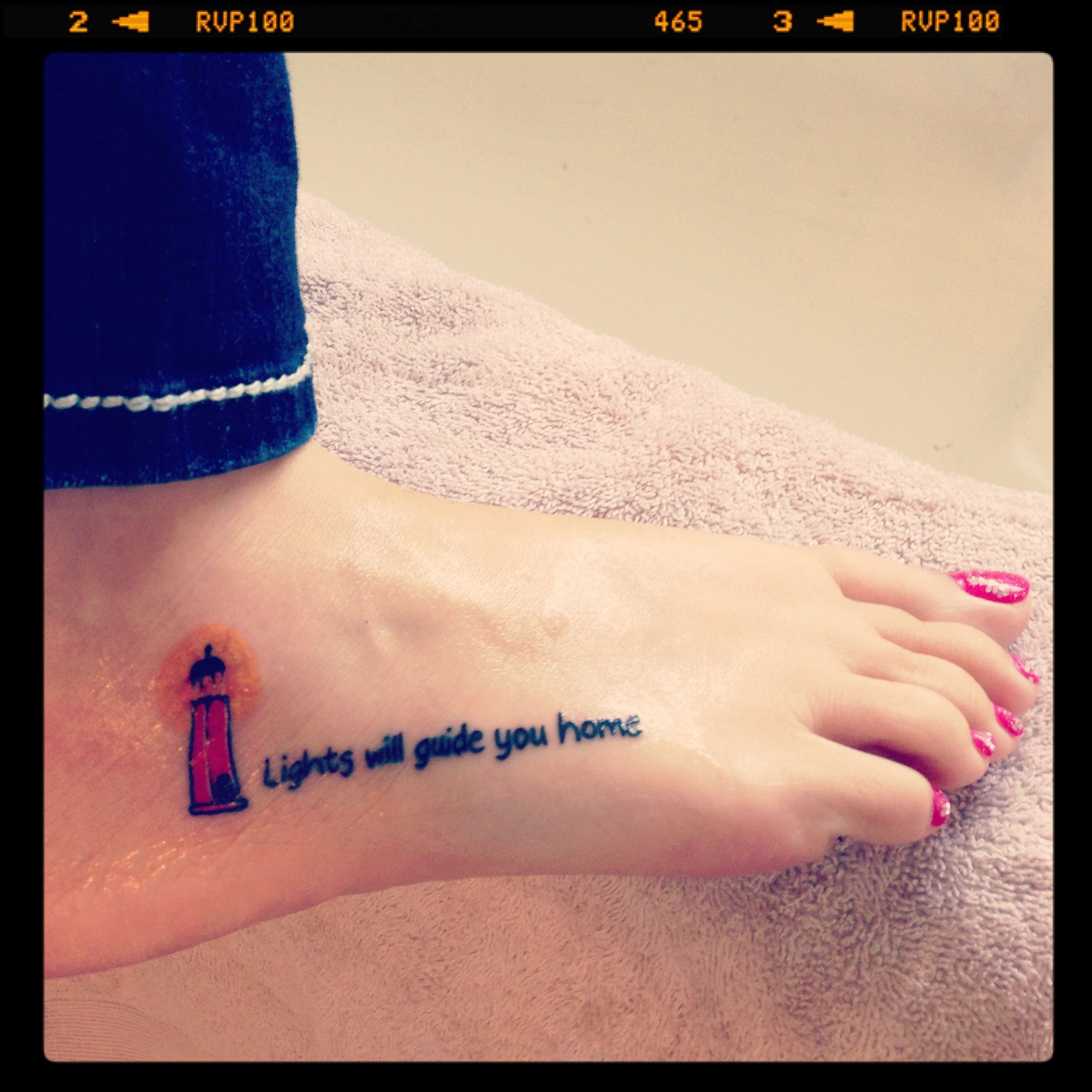 My newest tattoo. Lights will guide you home | Stuff | Tattoos, Feet ...