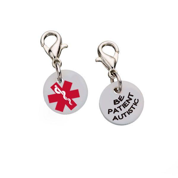 Autism Charms For Pandora Bracelets: Autistic Be Patient Bracelet Charm - Small