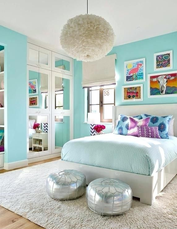 Image result for light turquoise paint colors | Girls and ...