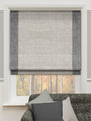 MUM DAD   Caldicot Woven Grey Roman Blind From Blinds 2go Kitchen Window  Blinds