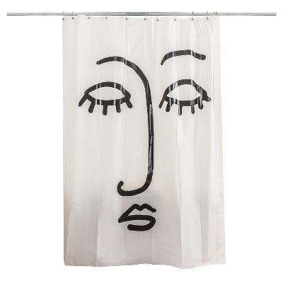 Face Shower Curtain Black White Room Essentials Target