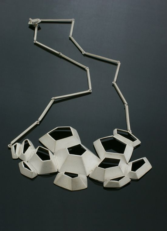 "Nicole Schuster, German: necklace ""Skin"", silver 2011"