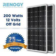 Solar Panel PV Off Grid RV Boat 2pcs 100W Watts 200W 12 Volt Mono Cells Charger