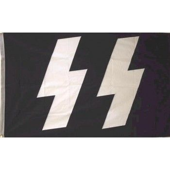 GERMAN SS FLAG Cotton (3 X 5) | Military Items for Sale