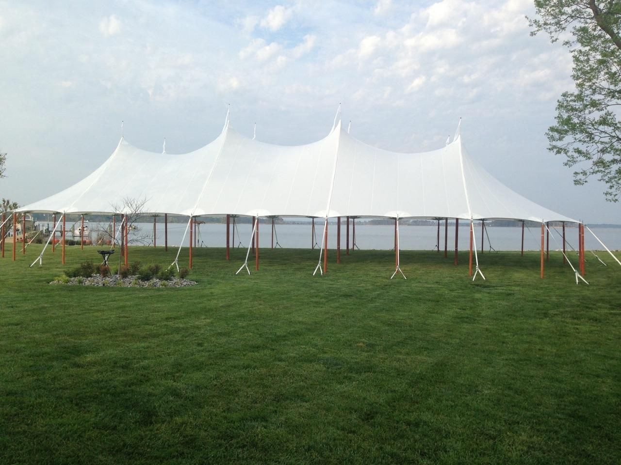 Aurora Sailcloth Tent Overlooking The Water Sailing