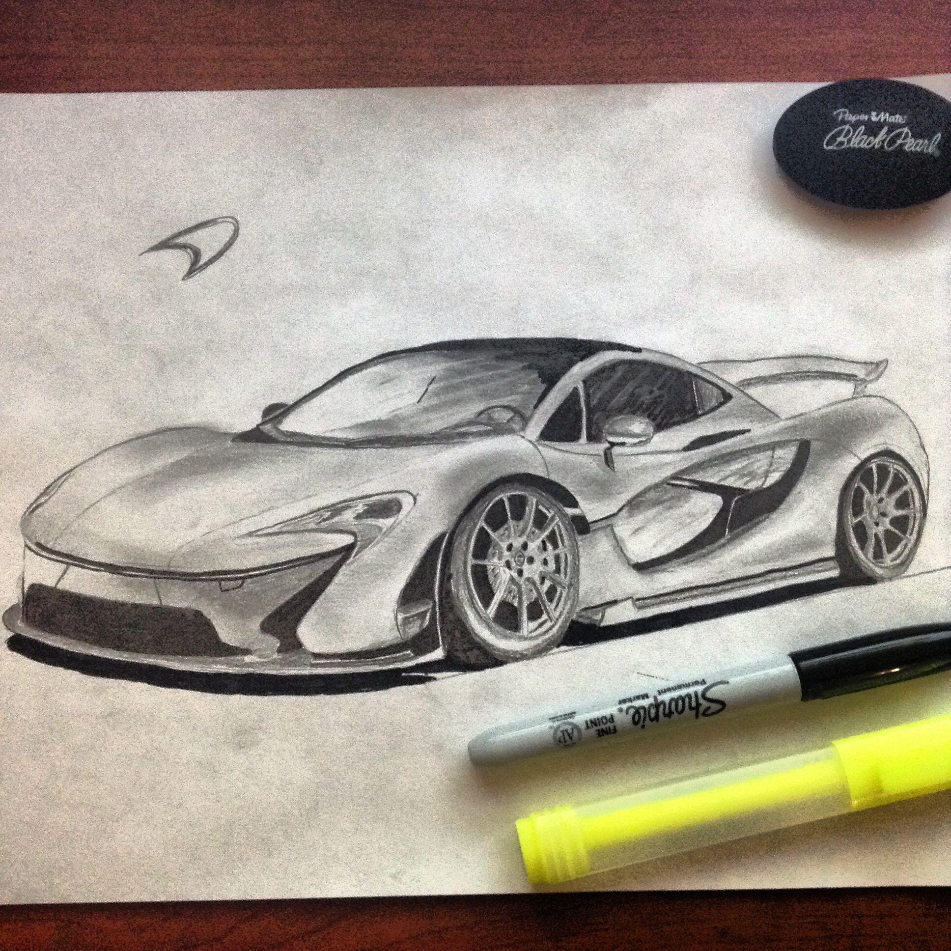Car Drawings, Pencil Drawings