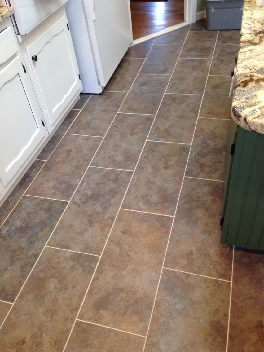 New flooring in the kitchen! TrafficMaster Ceramica from Home Depot ...