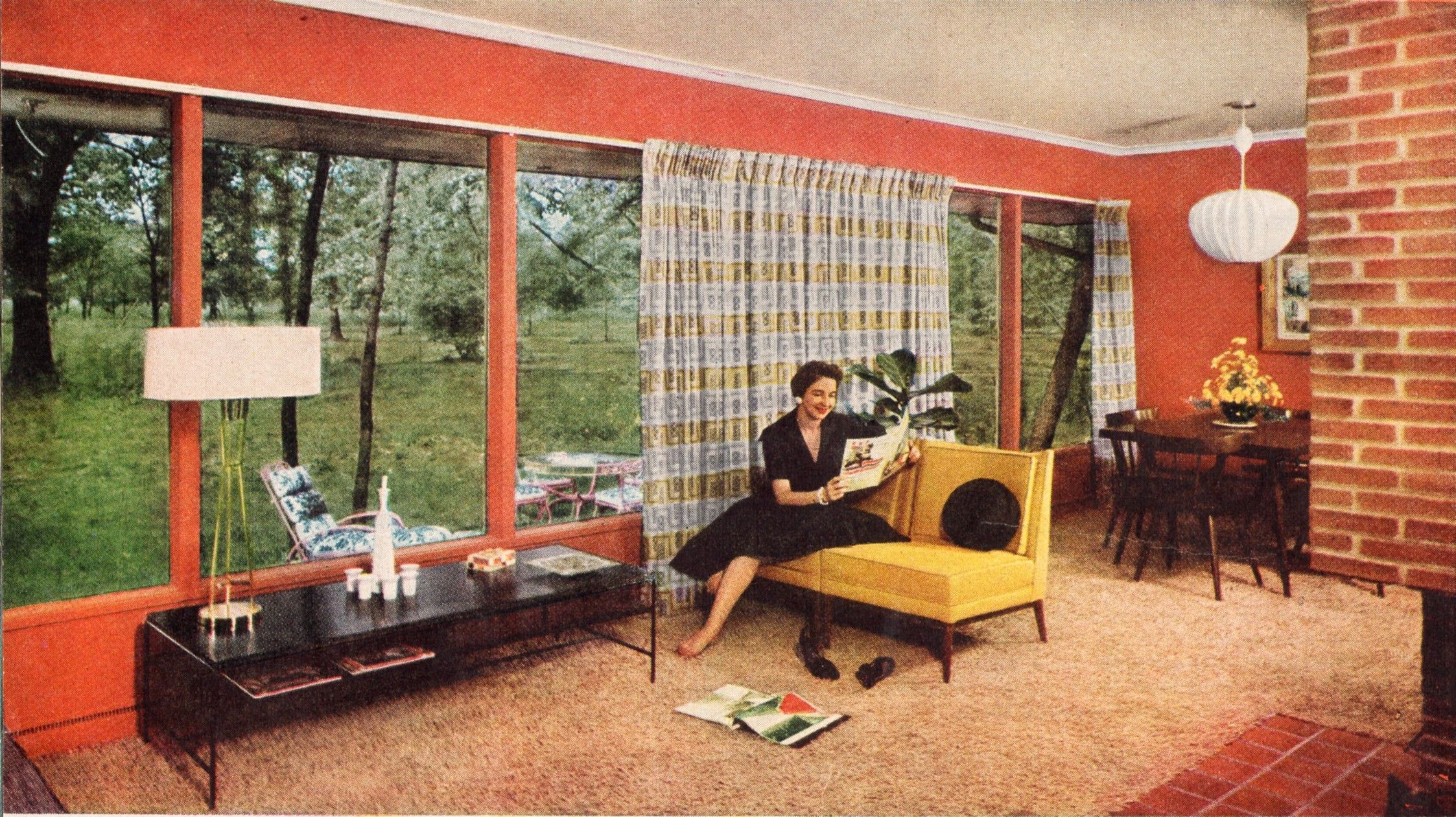 Vividly Hued Mid Century Modern From Im Considering This Color To