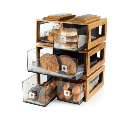 The Modern Bakery Display Case Made From High Quality Bamboo