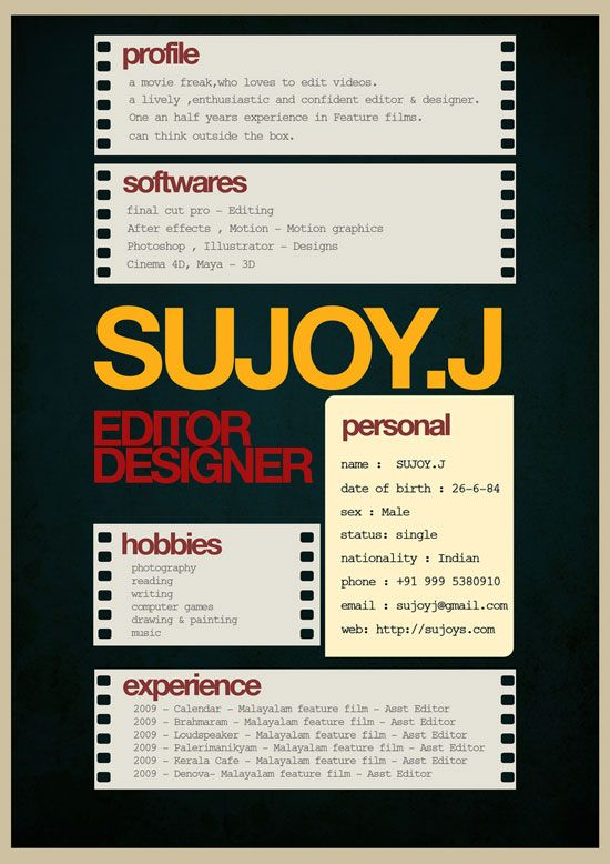 Resume Design Inspiration Sujoyj Creative Resume Inspiration  Gmd6  Pinterest  Creative