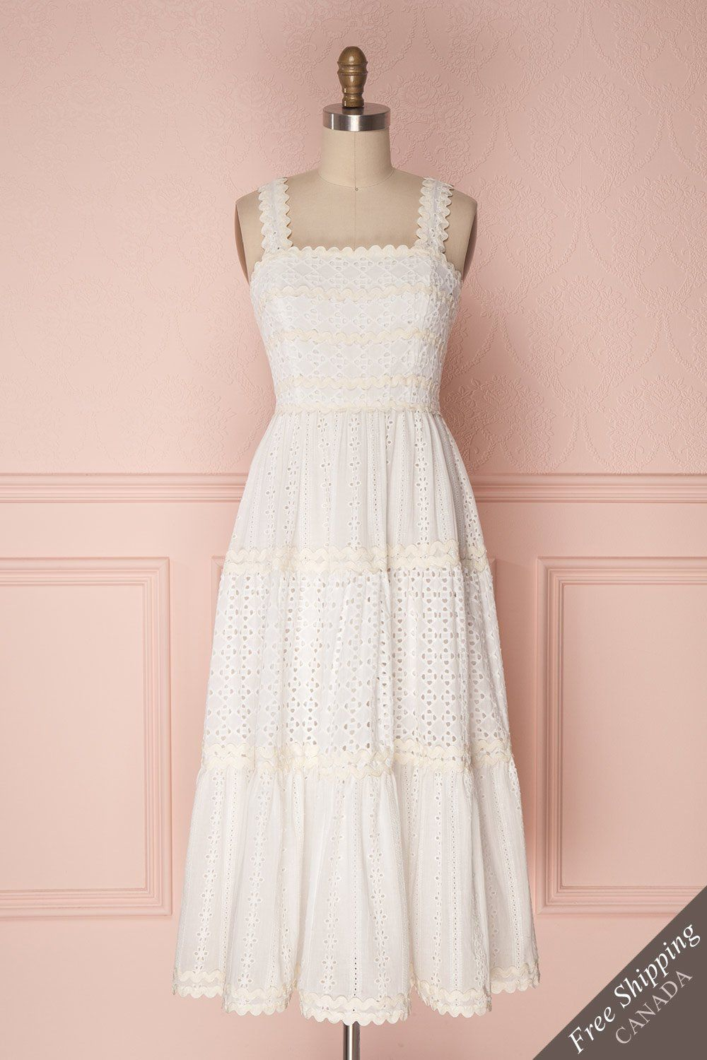 c9b46cd5f41 Chikma White  boutique1861  dress  white  lace  summer  summerdress  aline   embroidery  ribbons