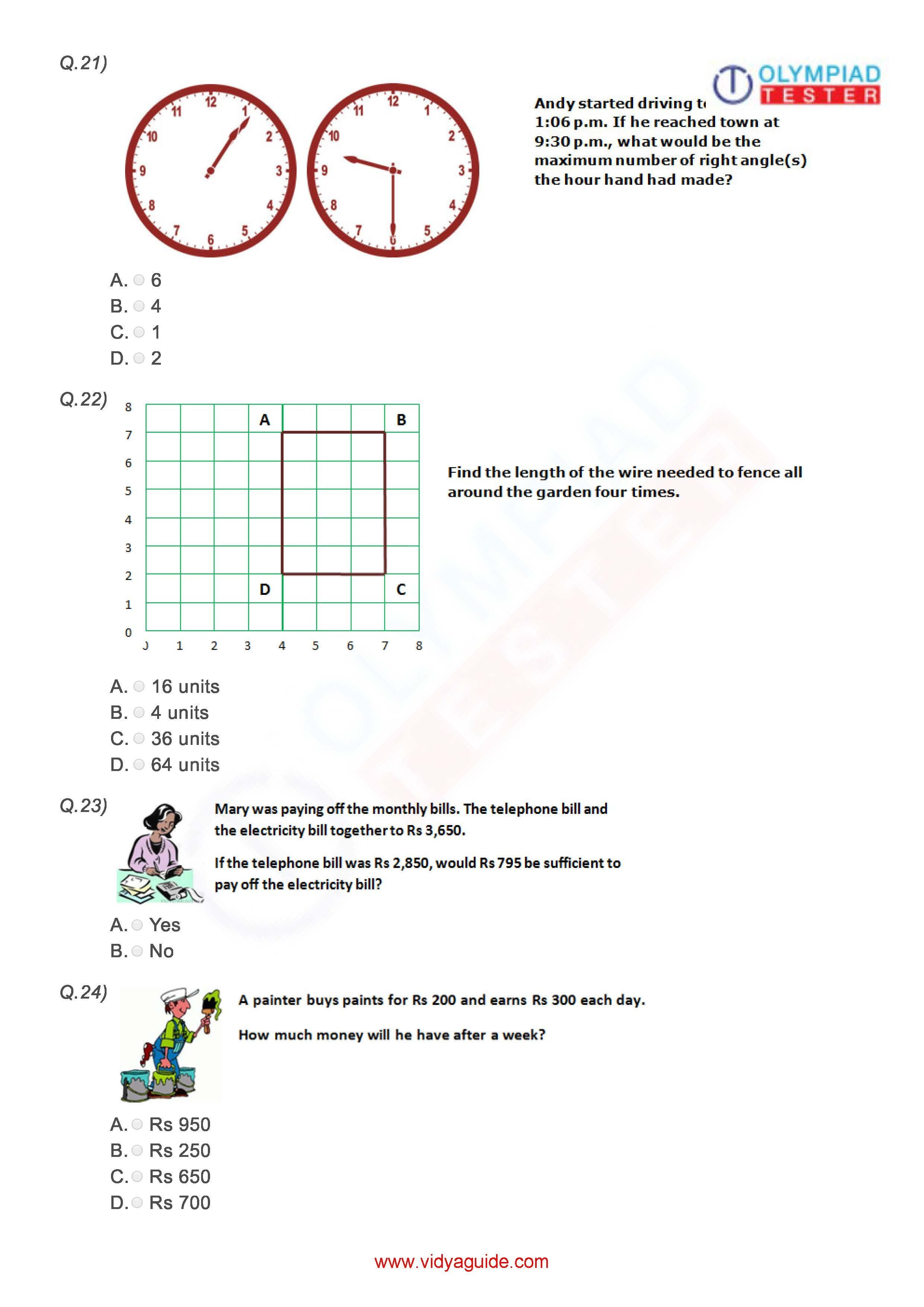 Download These Printable Grade 3 Mathematics Worksheets Or Take