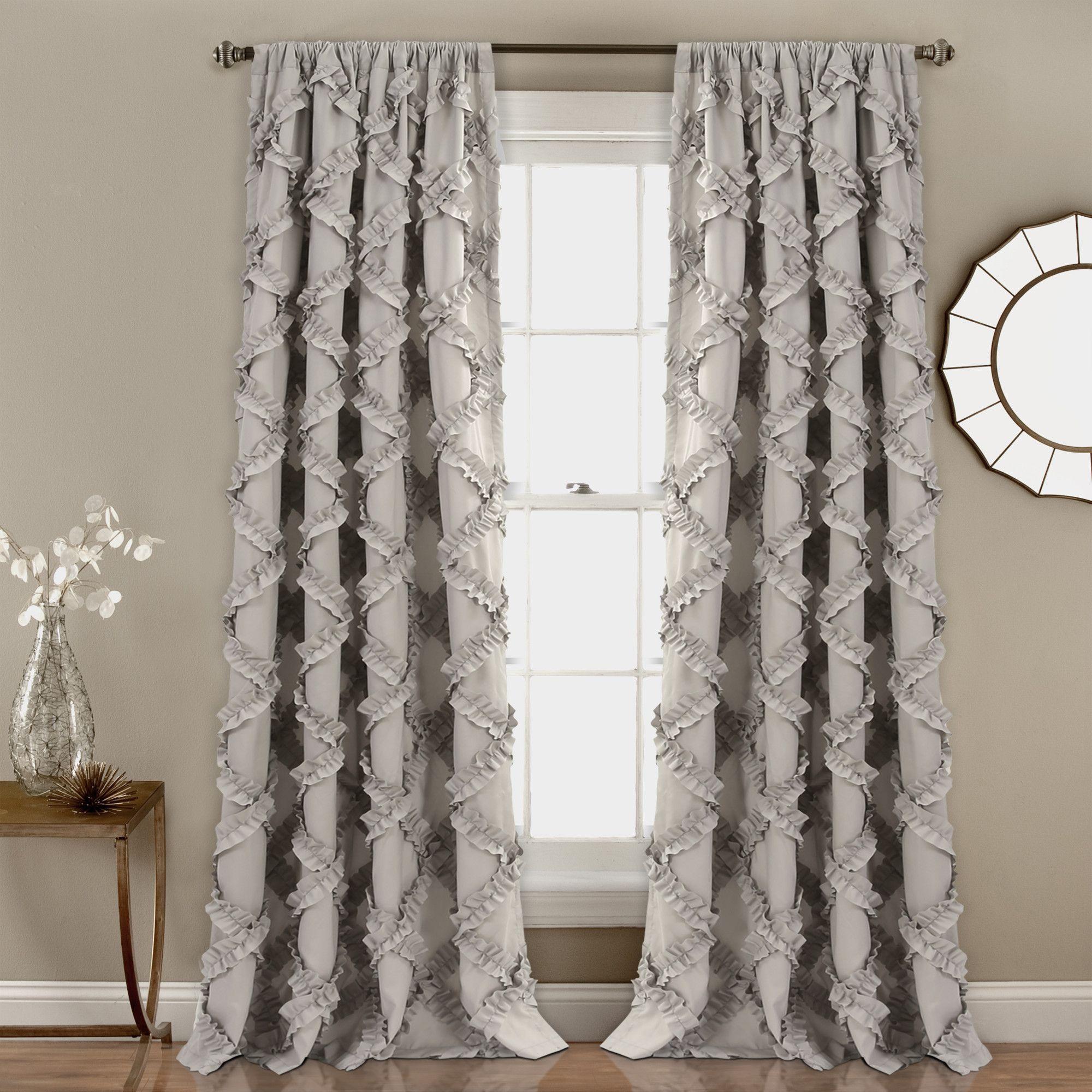2 window bedroom ideas  ruffle diamond window curtain set in   bedroom decoration