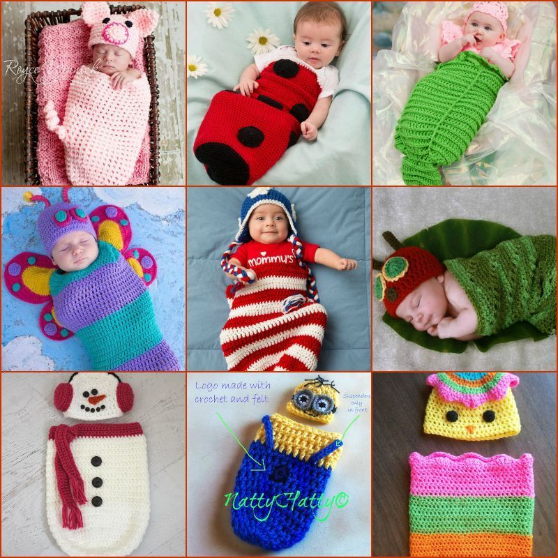 35+ Adorable Crochet and Knitted Baby Cocoon Patterns   Bebé ...