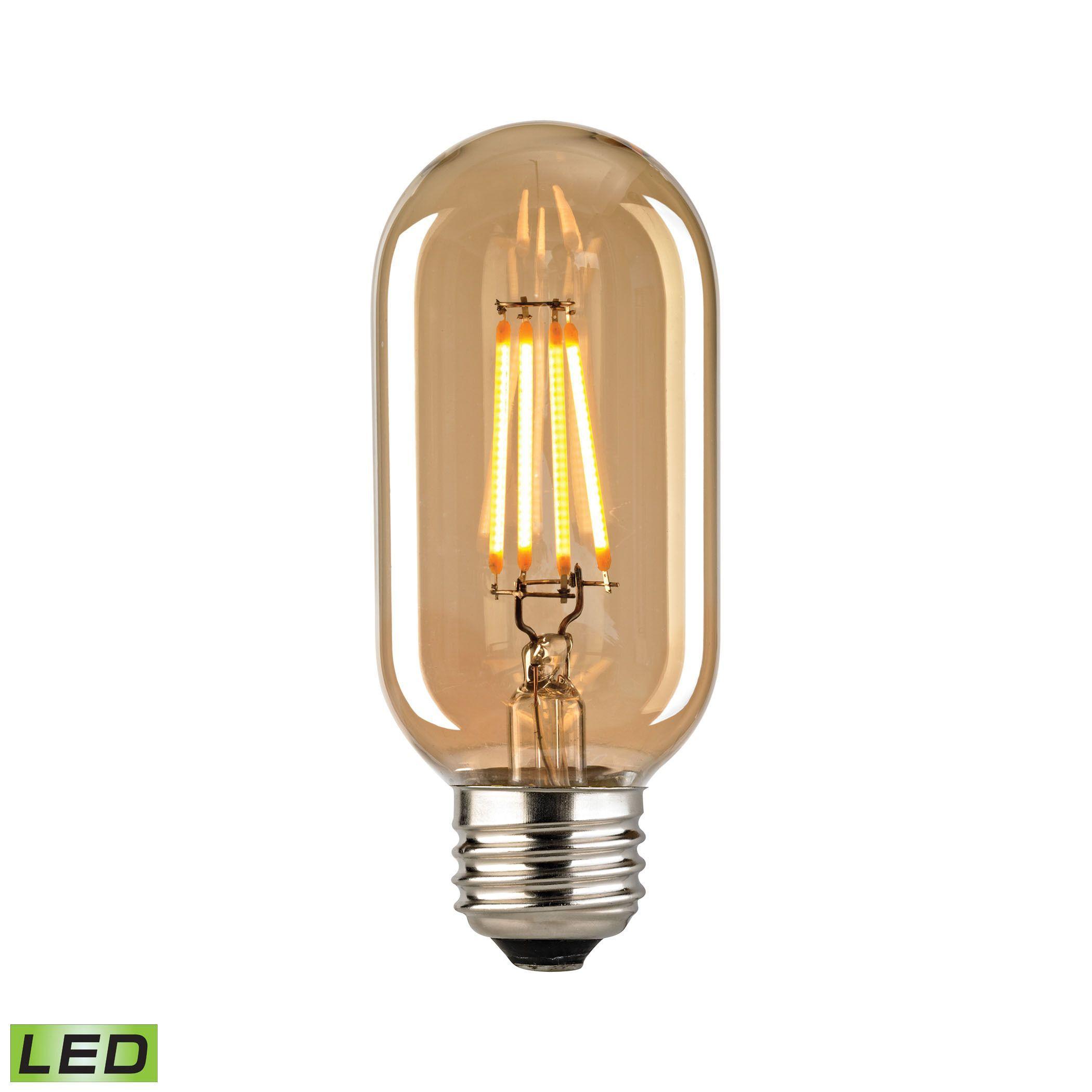 Teardrop st64 william and watson vintage edison bulb industrial light - Elk Filament Medium Led Bulb With Light Gold Tint Light Gold Tint Clear
