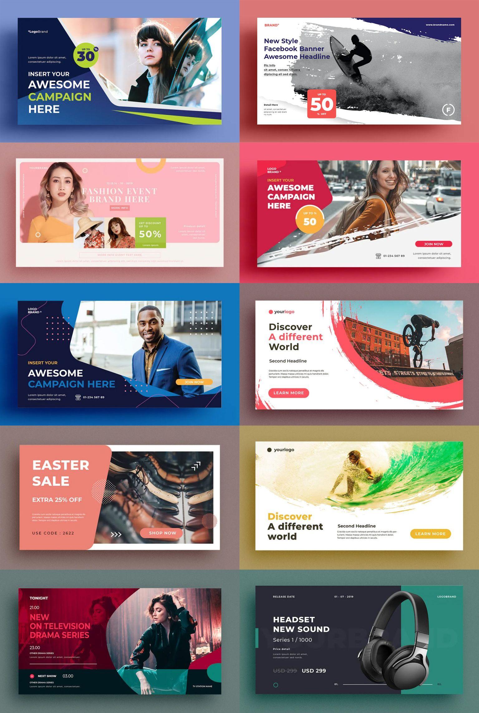 15 Facebook Ad Templates Facebook Ads Design Banner Ads Design Website Banner Design