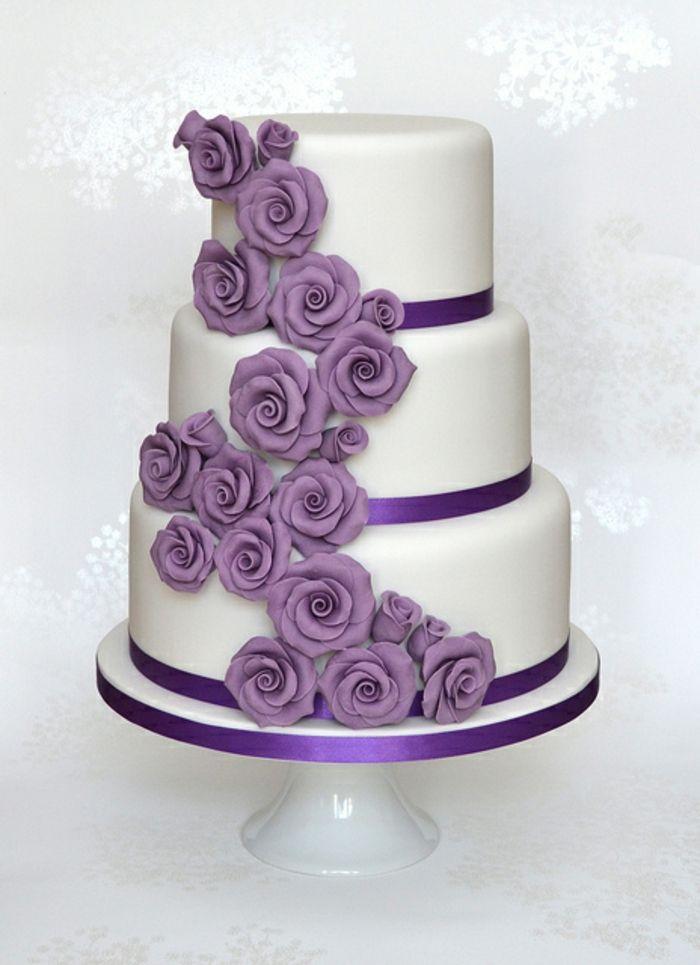 bildergebnis f r hochzeitstorte lila wei torten hochzeit etc wedding cakes elegant. Black Bedroom Furniture Sets. Home Design Ideas