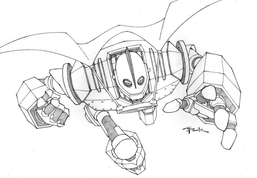 Iron Giant By Andyparkart On Deviantart The Iron Giant Iron Robot Concept Art