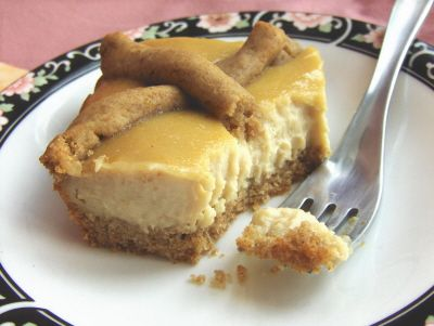 Vegan Baked Lemony Cheesecake--not too sweet, this cake is great for snacking (or breakfast!). Refined sugar-free.