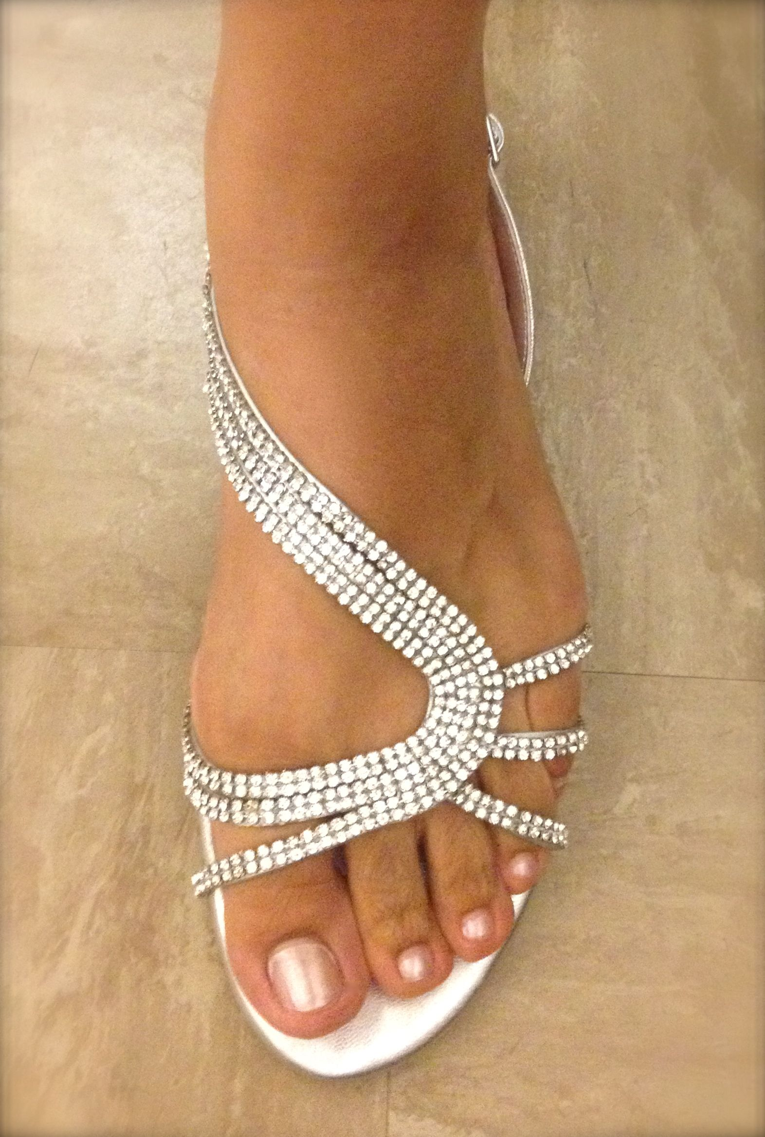 Flat rhinestone sandals for wedding - Very Pretty Sparkly Sandals From Dune