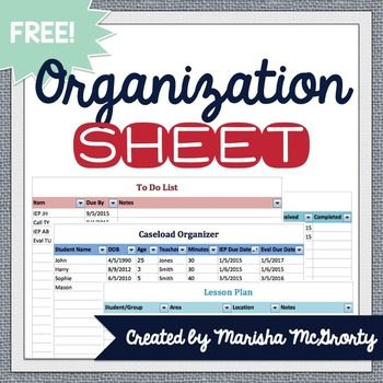 How to Get Organized with the Ultimate Organization Spreadsheet 10 - sample spreadsheet