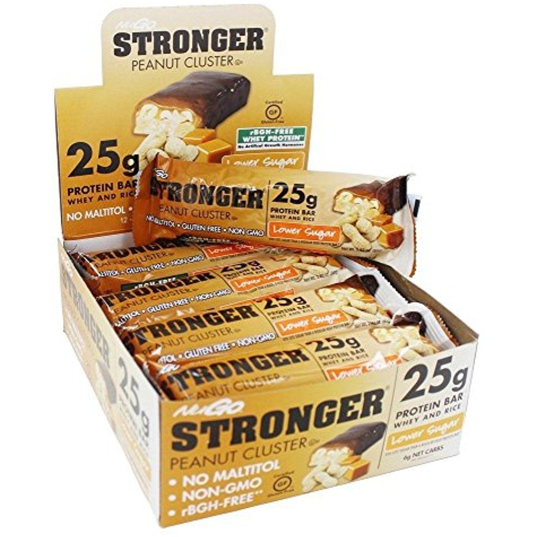 NuGo Nutrition NuGo Stronger Protein Bars Peanut Cluster