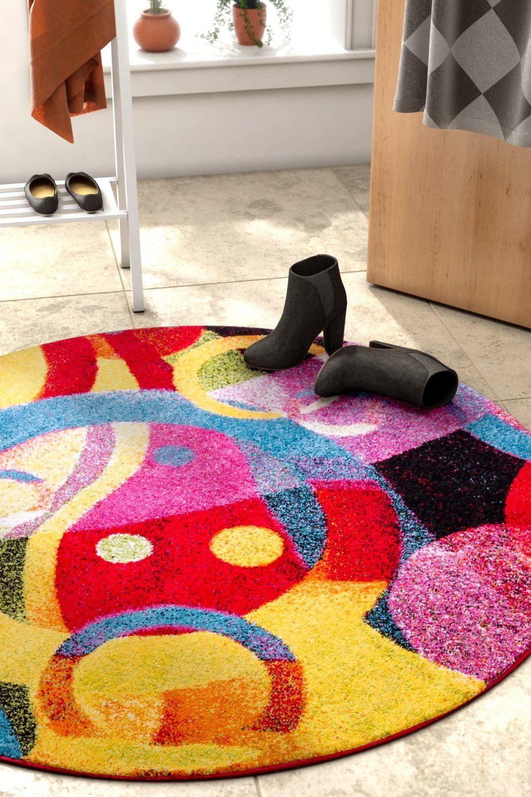 Brilliant Multi Modern Bright Rug Round area rugs, Area