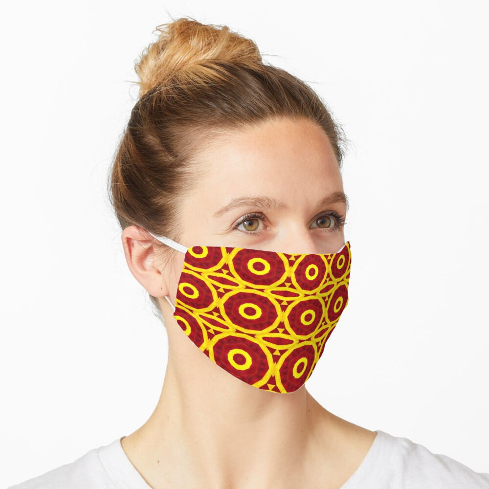 """Red and Yellow"""" Mask Designed by Bizarrefashions"""