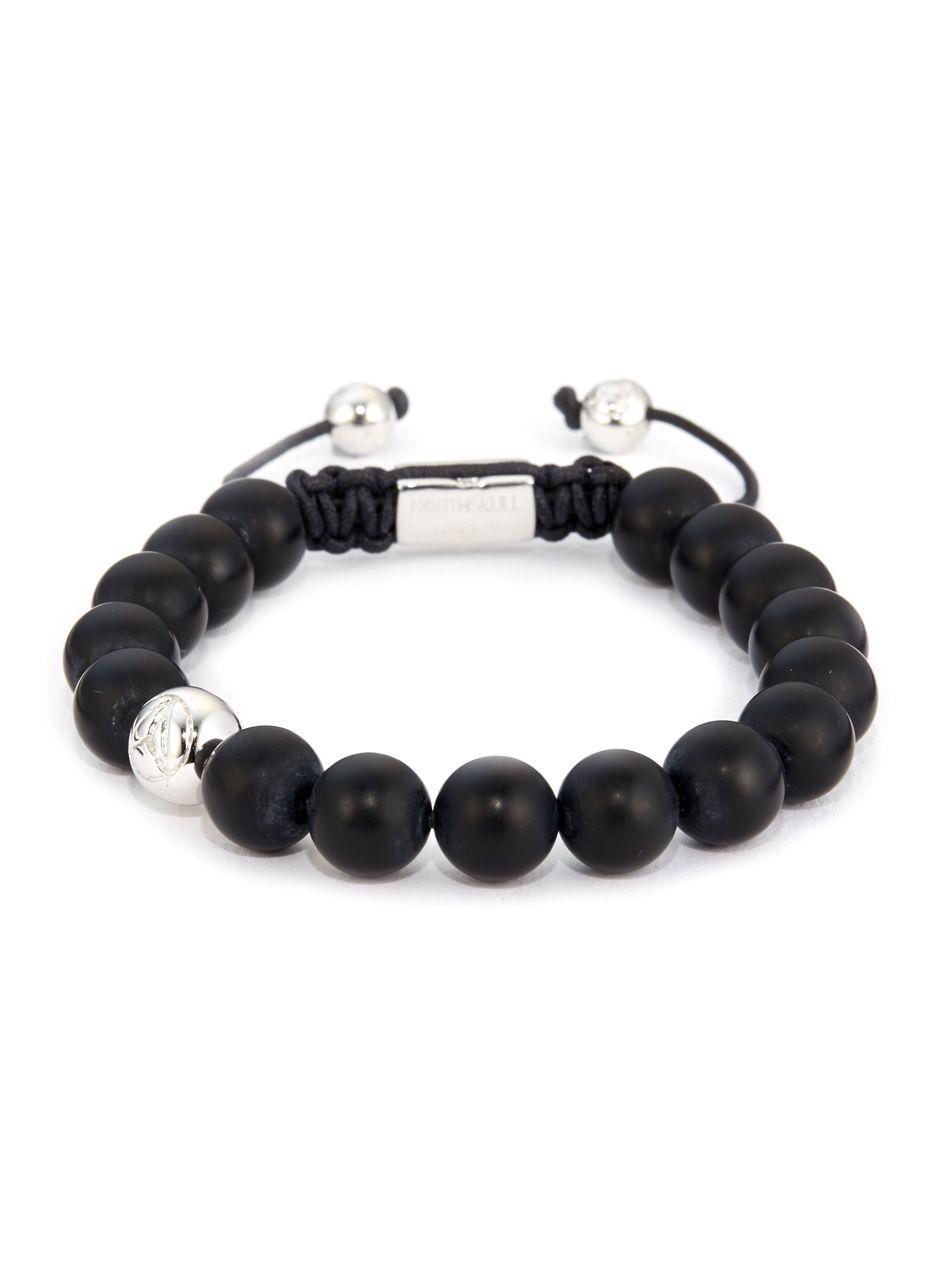 Matte Black Onyx Asymmetrical Bracelet