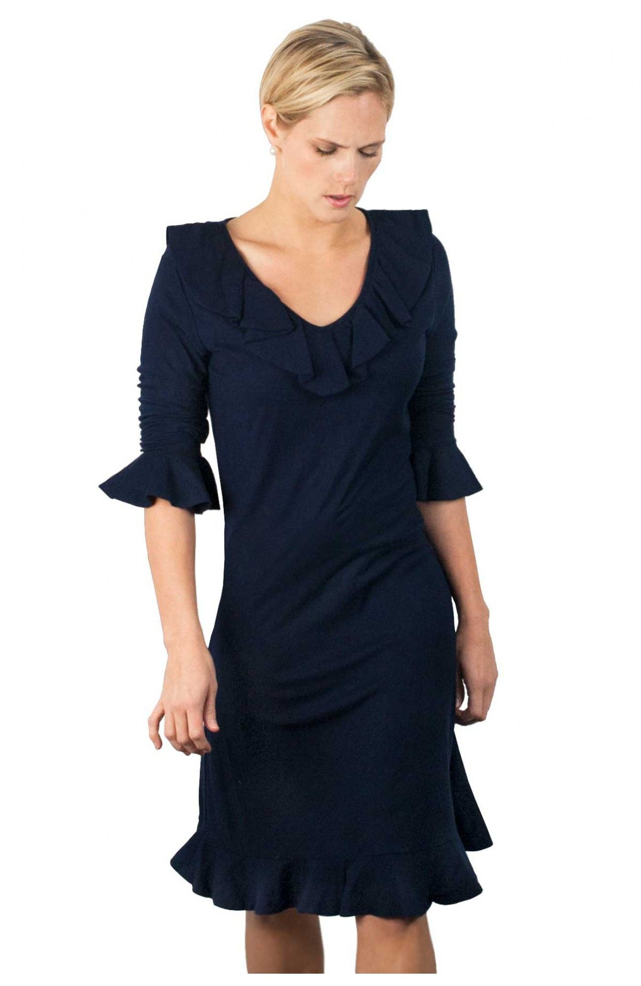 Gretchen Scott Cotton Cashmere Tango Dress