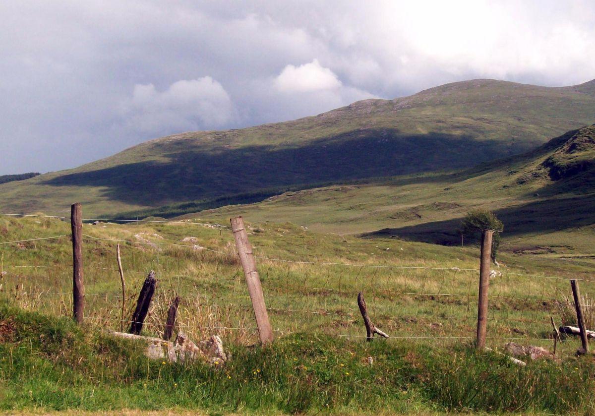Roadside View In Glenfin Co Donegal Ireland In