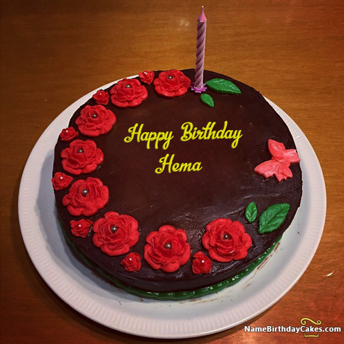 I Have Written Hema Name On Cakes And Wishes This Birthday Wish It Is Amazing Friends Hope You Will Like Visit Website Write Your Own
