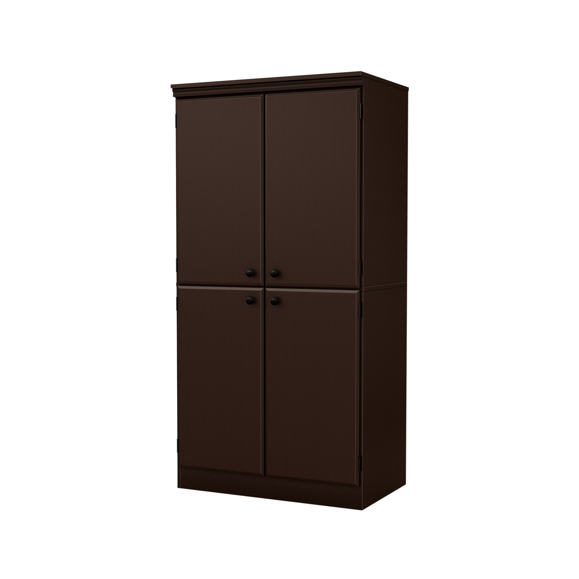Morgan 4 Door Storage Cabinet Chocolate Brown South Shore