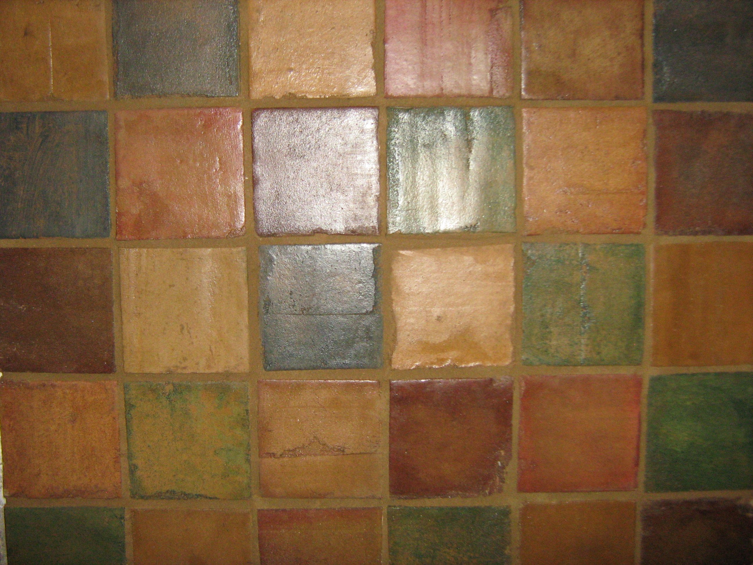 Stained Mexican Saltillo Tile Cottage Crafts Craftsman Tile