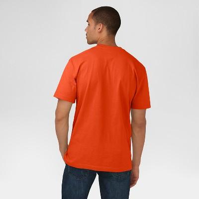 b8b34e92923e Dickies Men's Cotton Heavyweight Short Sleeve Pocket T-Shirt- Orange Xxl