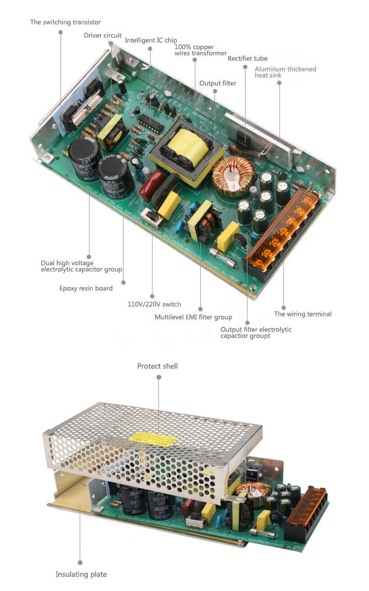 Components Of Switching Power Supply Electrolytic Capacitor Power Supply Industrial Electric