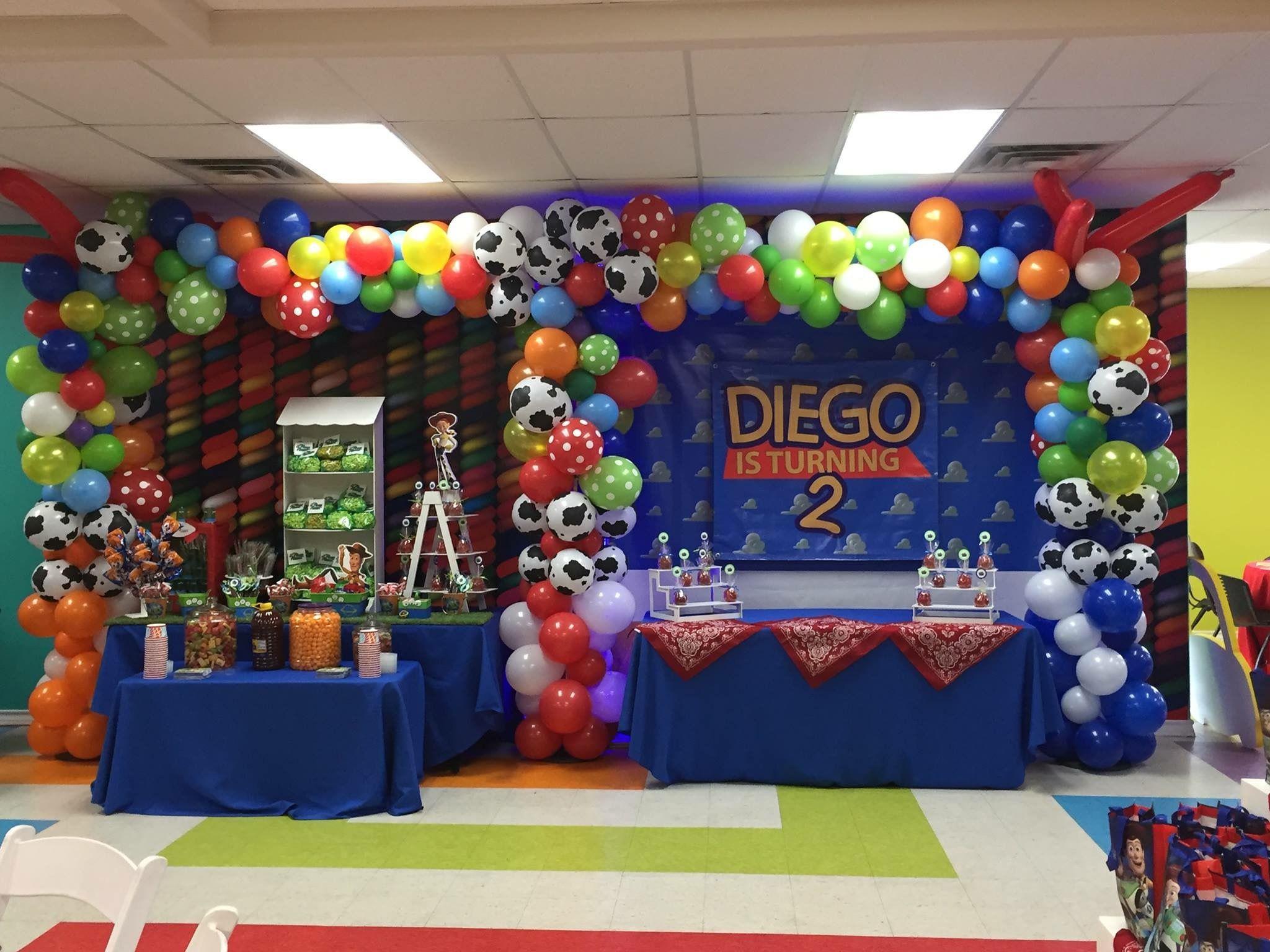 Toy Story Double Balloon Arch Decoracao Festa Festa E Decoracao