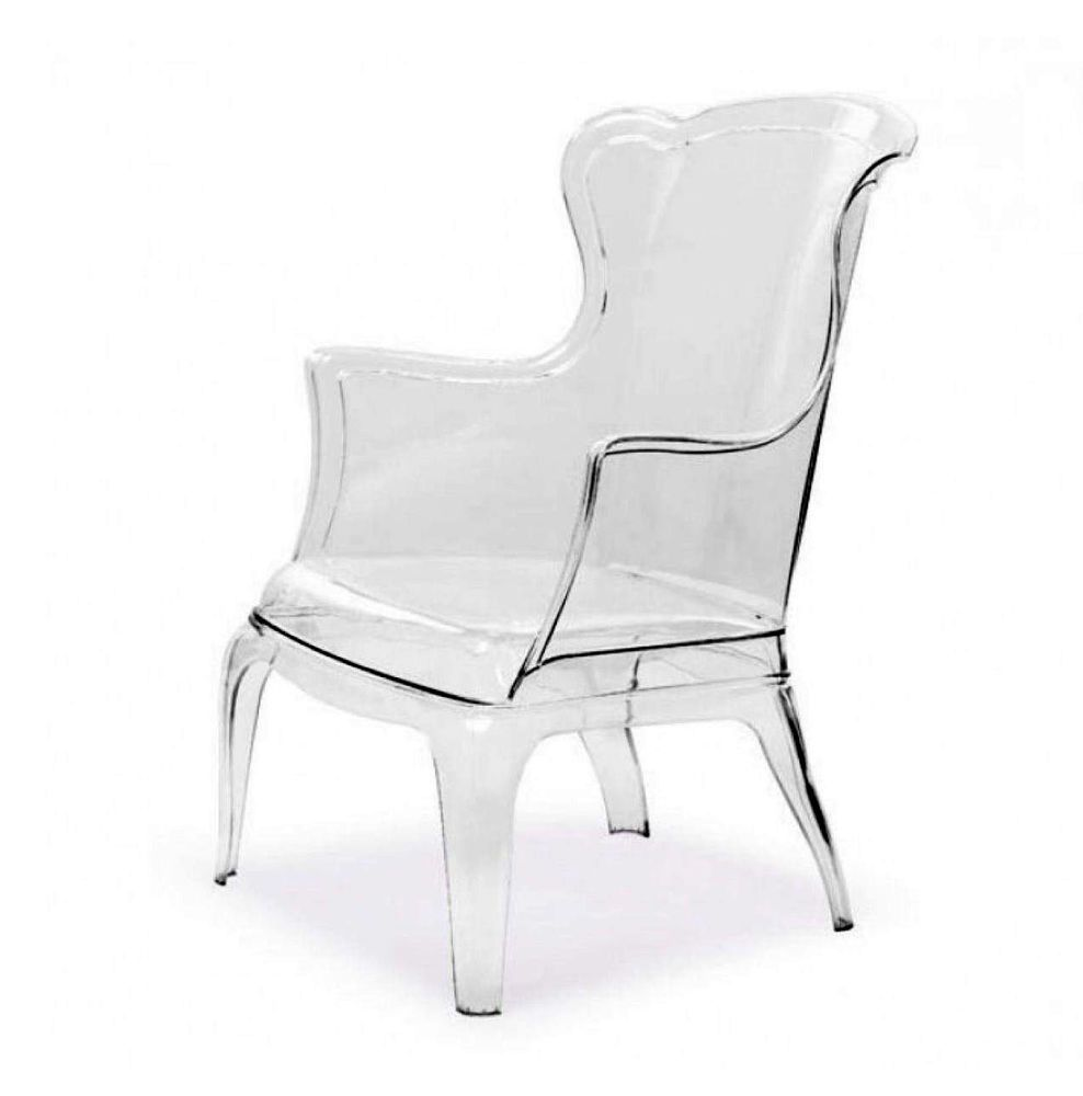 Fantastic Modern Lucite Ghost Wingback Chair Clear Acrylic Chair Spiritservingveterans Wood Chair Design Ideas Spiritservingveteransorg